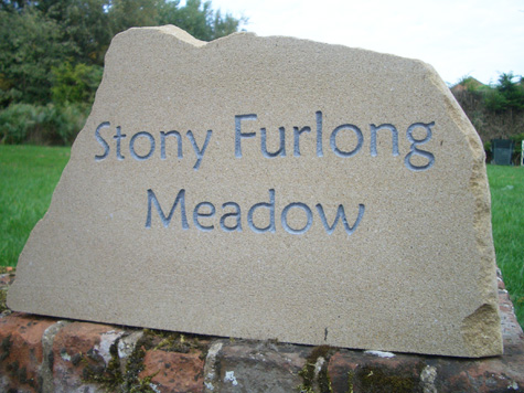 York House Sign for Stony Furlong Meadow